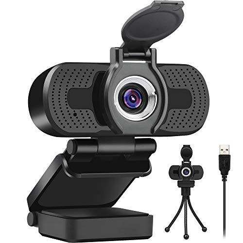 Larmtek 1080p Full Hd Webcam with Webcam CoverComputer Laptop Pc Mac Desktop Camera for Conference