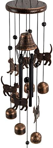 picture of Dawhud Direct Cats Outdoor Garden Decor Wind Chime