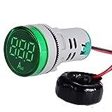 DishyKooker 22mm Digital Display Ampermeter Monitor Current Indicator Signal Light Ammeter Tester Measuring 0-100A Ampere Meter