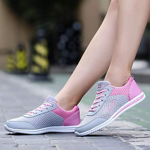 Zapatos para Zapatillas Deportivas Running Pisos Libre Deportivos Caminar Fitness Moda Zapatos Mujer de Mujer Zapatos Rosado de Logobeing Sneakers Calzado Aire dPXnwrPq
