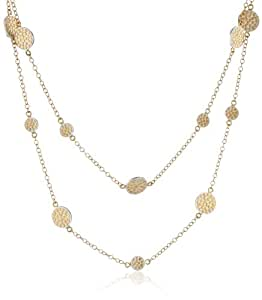 """Anna Beck Designs """"Bali"""" Multi-Disk Wrap 18k Gold-Plated Necklace, 50"""""""