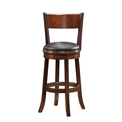 Boraam 47129 Palmetto Bar Height Swivel Stool, 29-Inch, Walnut
