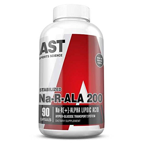 AST Sports Science Na-r-Ala 200 R[+]-Alpha Lipoic Acid Capsules, 90 Count by AST Sports Science