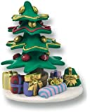 Christmas Cake Decoration Topper Claydough Decorated Christmas Tree 64mm