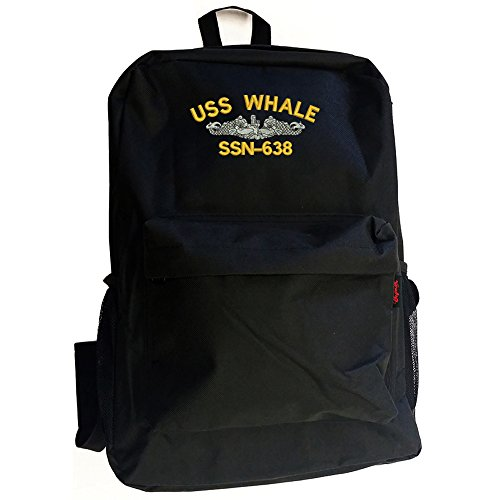 USS WHALE SSN-638 Battleship Military Backpack Bag