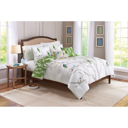 Better Homes & Gardens Cozy, Stylish and Colorful Better Homes and Gardens Tree Top Reversible 5-Piece Bedding Comforter Set, Full/Queen Multi from Better Homes & Gardens