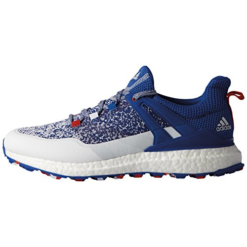 adidas Men's Crossknit Boost Limited Edition US Open Golf Shoes DB1419, Red/White/Blue, 10 M US