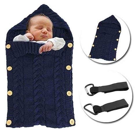 MiniGreen Saco de Dormir de Bebé Invierno Wrap Manta Unisexo Fotografía Prop Envuelto Manta de Algodón