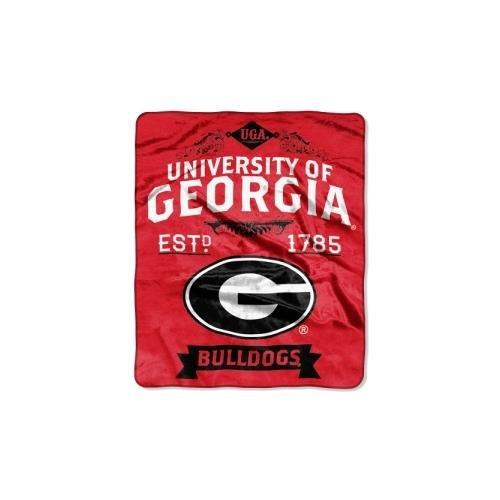 The Northwest Company NCAA Georgia Bulldogs College Label Raschel Throw, 50 x 60-Inch