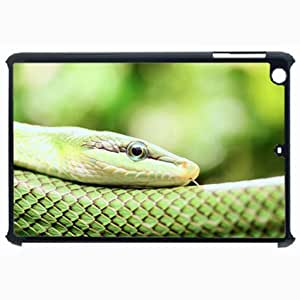 Customized Back Cover Case For iPad Air 5 Hardshell Case, Black Back Cover Design Smooth Snake Personalized Unique Case For iPad Air 5