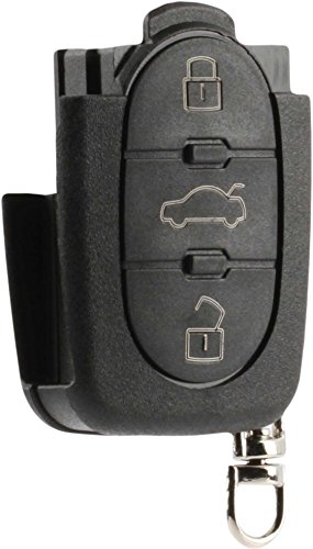 Flip Key Fob Keyless Entry Remote Shell Case & Pad fits VW Beetle Cabrio Golf Jetta Passat 1998 1999 2000 2001 (HLO1J0959753F) (Key Vw Flip)