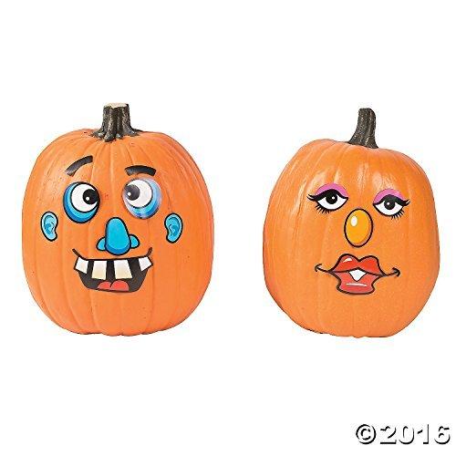 Paper Goofy Jack-O-Lantern Face Stickers