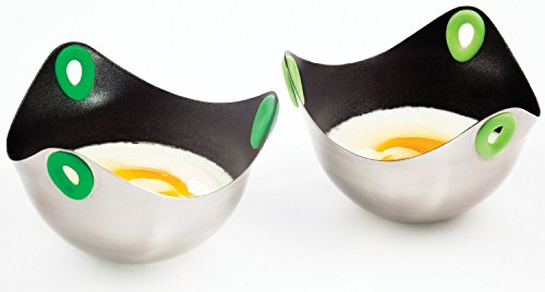Harold Fusionbrands Silicone & Stainless Steel Poachpod Egg Poaching Tool 2-Pack by Harold Imports (Image #1)