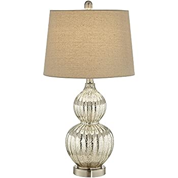 this item fluted mercury glass table lamp uk pottery barn leera antique stacked base