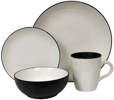 Amazon.com | Corelle Hearthstone Stoneware Round 16-Piece Set ...