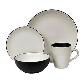 Corelle Hearthstone Stoneware Round 16-Piece Set Service for 4 Royal White  sc 1 st  camelcamelcamel.com & Amazon.com | Corelle Hearthstone Stoneware Round 16-Piece Set ...