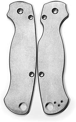 Titanium Scales for Spyderco Paramilitary 2 – Stonewash