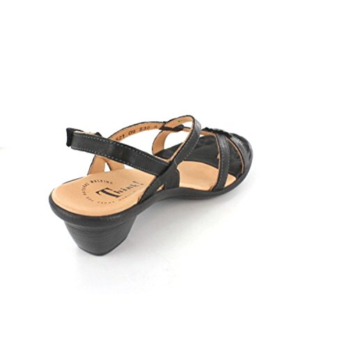 Think! 9-89521-09 - Sandalias de vestir de Piel para mujer negro