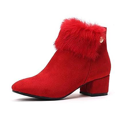 Zapatos Gruesos Corte Y Boda La Rojos De Hrcxue Cálidos yvIbgf6Y7m