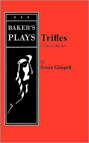 Trifles Susan Glaspell 9780874406382 Amazon Books