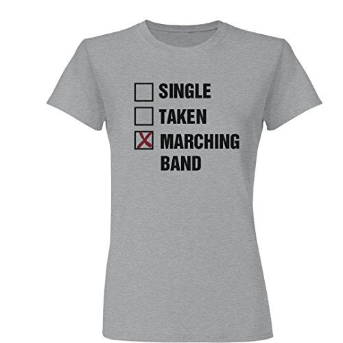 hing Band Relationship: Ladies Slim Fit Basic Promo Jersey Tee (List Marching Band Instruments)