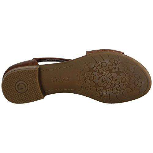 Gabor Comfort 82761-54- Scarpe Da Donna Sandalo / Fionda, Marrone, Pelle (vacchetta), Altezza Tacco: 20 Mm