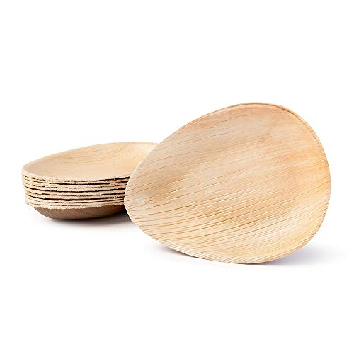 Naturally Chic Palm Leaf Compostable Plates | 6.5