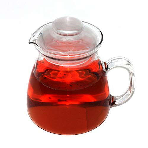 Simax Glassware 20 Oz. Glass Teapot | Short Spout, Microwave and Stovetop Safe, Heat, Cold, and Thermal Shock Resistant Borosilicate Glass, Makes a Stunning Presentation (Microwave Glass Teapot)