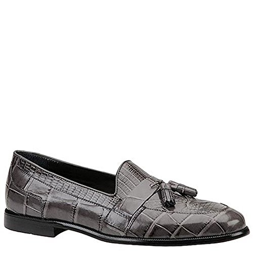 Stacy Adams Men's Sabola Tassel Slip-On 9 D(M) US Grey-Snake - Genuine Loafers