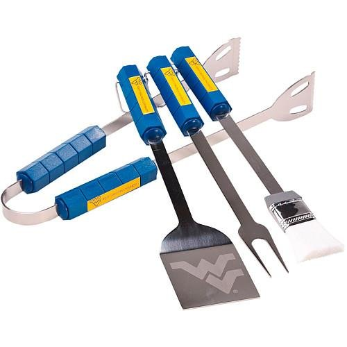 BSI Products WEST Virginia Mountaineers 4 Piece BBQ Set