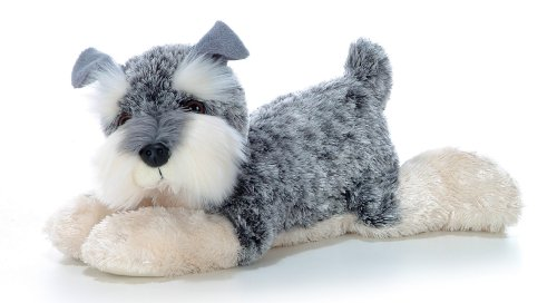 Plush Miniature Animal (Aurora Plush Ludwig the 12-Inch Schnauzer)