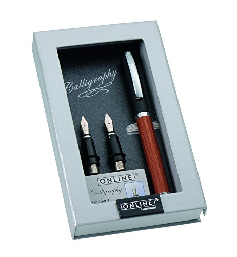 Paradise Pen Company Calligraphy Fountain Pen Set, Vision Nature Rosewood (36919) by Paradise Pen Company