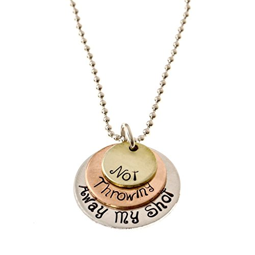 Theatre Nerds 'Not Throwing Away My Shot' tri-layer necklace - Broadway musical (Hamilton Gifts)