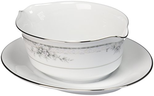 Noritake Sweet Leilani Gravy Boat with Stand