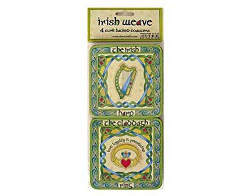 Irish Symbols Cocktail Coasters Set of Four