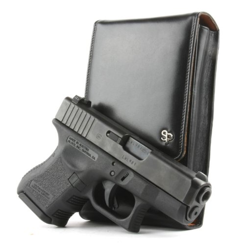 Glock 26 Sneaky Pete Holster (Belt Loop) Black Leather from Sneaky Pete Holsters