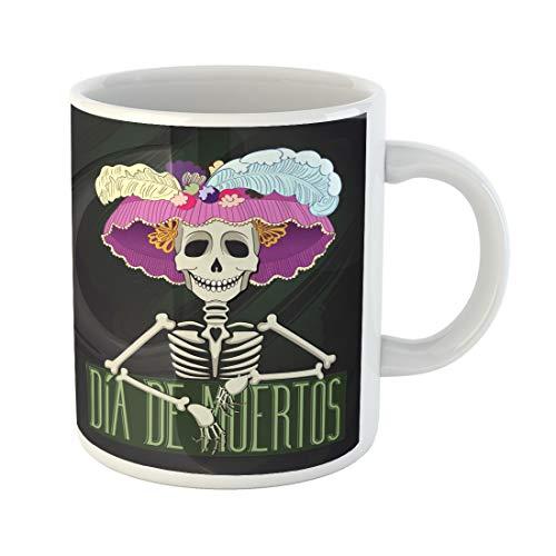 Semtomn Funny Coffee Mug Day of Catrina Dia De Muertos the Dead Fiesta 11 Oz Ceramic Coffee Mugs Tea Cup Best Gift Or Souvenir -