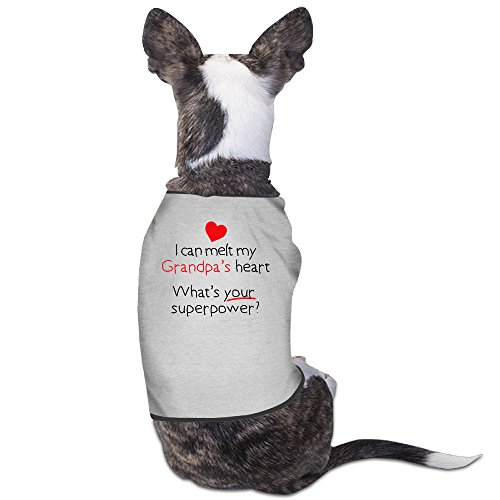 Theming I Can Melt Grandpas Heart, What's Your Superpower Dog Vest (Halloween In Indiana)