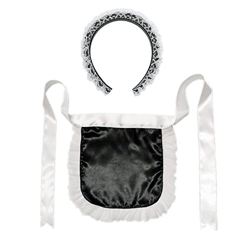 Maids Costume Accessories (French Maid Headband & Apron Costume Set ~ Halloween Accessory Kit)
