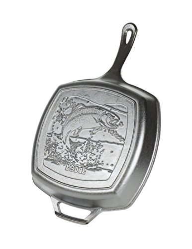 Lodge L8SGPWLFI EMW6655096, 10.5 Grill Pan – Fish, Black