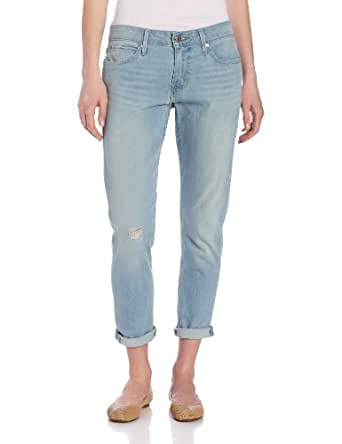 Levi's Women's Cropped Boyfriend Jean, Damaged Light, 4  Medium