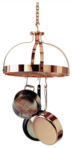 Enclume Round Pot Rack (Enclume Premier Dutch Crown Ceiling Pot Rack, Copper Plated)