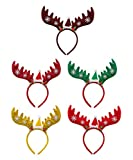 feoya christmas headband elk headwear head hoop costume party decoration 5 pack