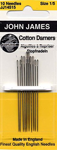 Colonial Needle 10 Count John James Cotton Darners Assorted Needles, Size 1/5