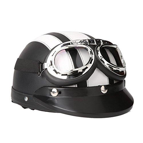 White Scooter Helmet - 9