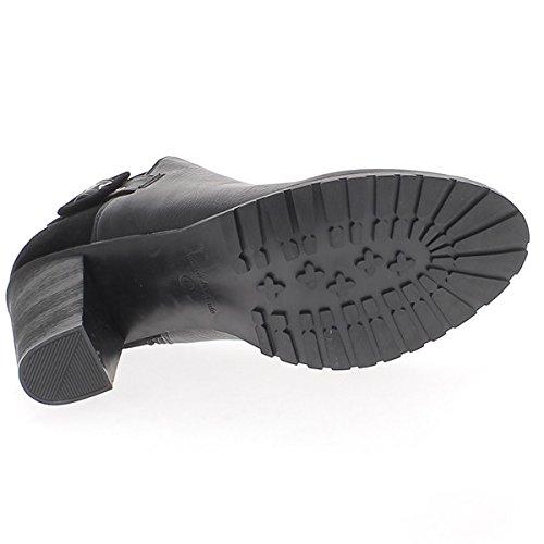 ChaussMoi Stivali Donna bi Grandi Dimensioni Materiale 9cm Pelle Nero e Camoscio Tacco di Guardare