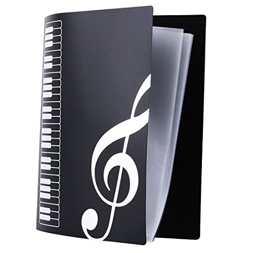 A4 Size,40 Pockets,Sheet Music Folder Files Documents Folder - Music Organizer Box
