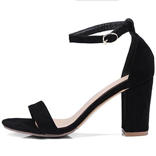Sandales Black Classique 4 Bout Ouvert Taoffen Femmes wXIyq6wp