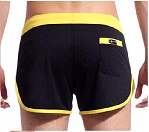 De Short Gym Cordon Sports Noir Sport Hauteur Faible Troncs Hommes Boxer Avec Qiyun Les z tFwqxzPg
