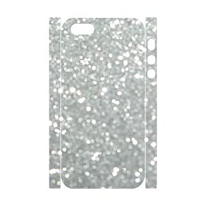 Silver Bling Personalized 3D Cover Case for Iphone 5,5S,customized phone case ygtg593394